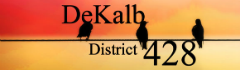 DeKalb Community Unit School District 428 logo
